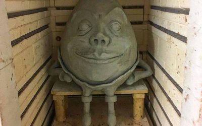 Humpty Dumpty im Brennofen